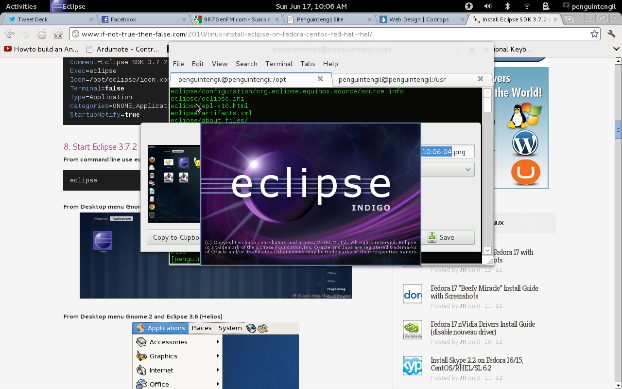 Eclipse SDK screenshot